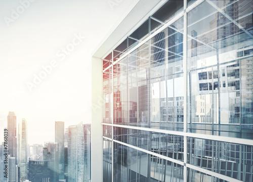 Photo  Modern office building facade