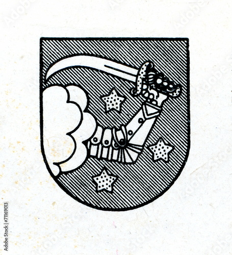 Photo  Coat of arms of Valka, Latvia ca. 1930