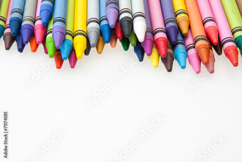 Fotografie, Obraz  colorful crayons