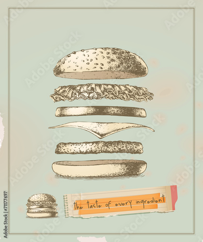 smak-kazdego-skladnika-hamburger-rysunek