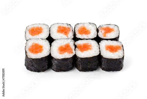 Printed kitchen splashbacks Sushi bar Sushi on a light background