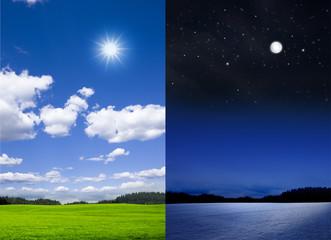 Sommer - Winter /Tag - Nacht
