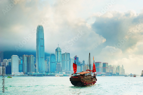 Photo  Victoria harbor, Hong Kong