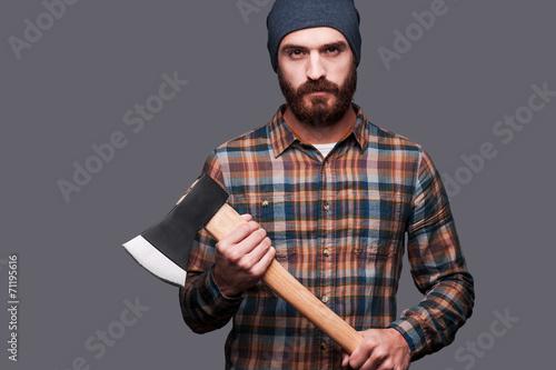 6d038af0 Serious lumberjack. – Kjøp dette bildet og utforsk lignende bilder ...