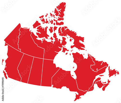Photo Canada Map