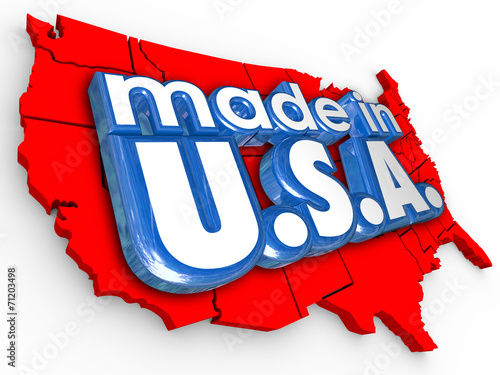 Made in USA America Production Manufacturing Goods Products Poster