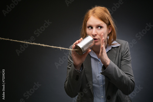 Fotografija Businesswoman Leaking Corporate Secrets