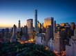 Leinwandbild Motiv New York city - sunrise over central park and Manhattan