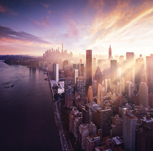 New York City - Colorful Sunse...