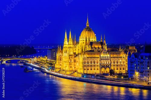 Canvas Prints Budapest Hungarian parliament, Budapest Hungary