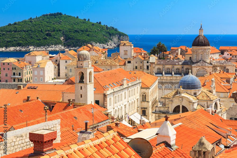 Fototapety, obrazy: The walled city of Dubrovnik, Croatia