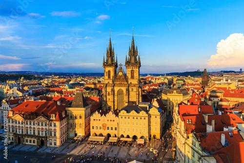 Staande foto Praag Old Town & Tyn Cathedral, Prague Czech Republic