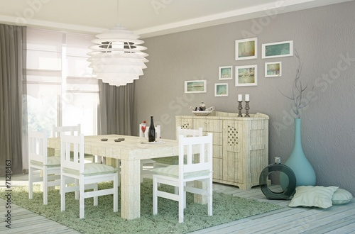 Esszimmer Im Shabby Chic Look Buy This Stock Illustration And