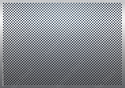 Papiers peints Metal Gray metal background, perforated metal texture