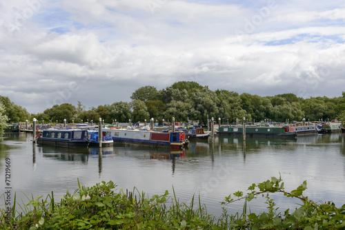 Fotografie, Obraz  narrow boats at Thames and Kennet Marina, Reading