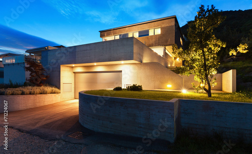 Architecture modern design, house - fototapety na wymiar