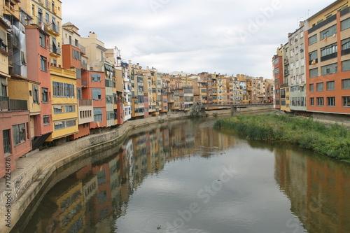 river in city landscape