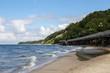 Пляж Балтийского моря в ветренный день