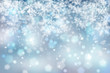 canvas print picture - Abstract blurry snowflake