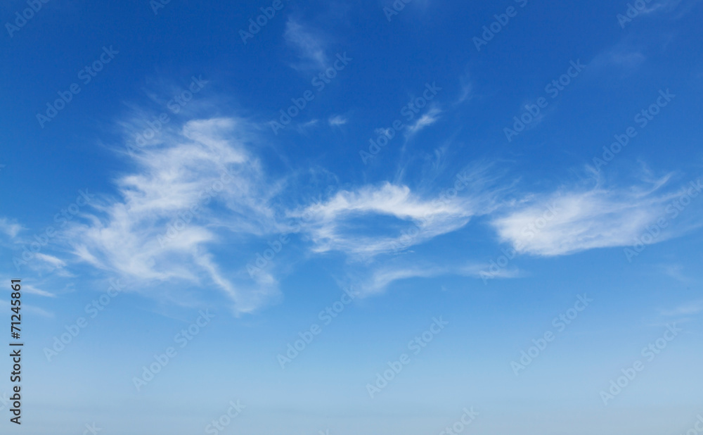 Natural blue cloudy sky background photo texture