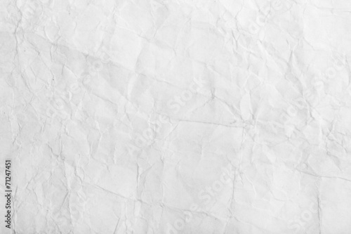 Fotografie, Obraz  Old white crumpled paper sheet background texture