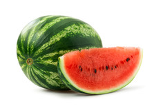 Watermelon Isolated On White B...