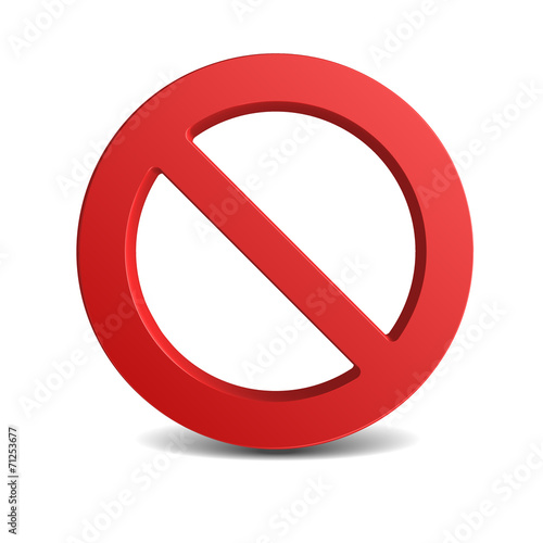 Obraz No Sign , isolated on white background - fototapety do salonu