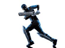 Cricket Player  Batsman Silhou...