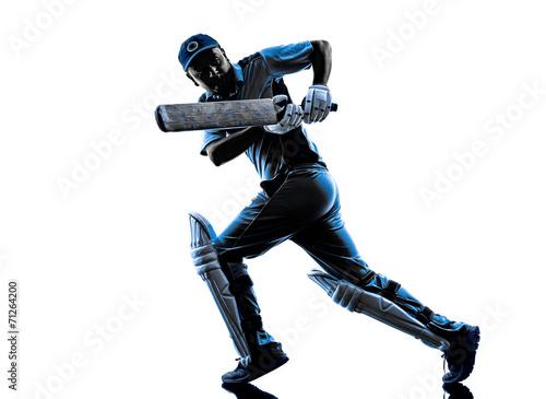 Carta da parati Cricket player  batsman silhouette