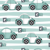 car pattern vector illustration