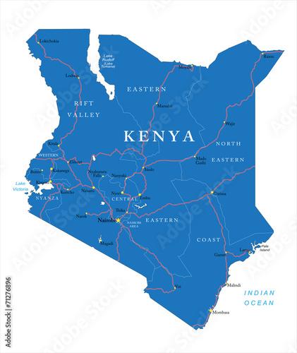 Kenya map Wall mural
