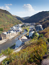 View To Boscastle Town Cornwal...