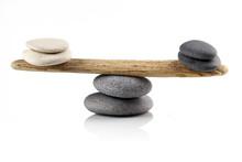Balancing Stones On White