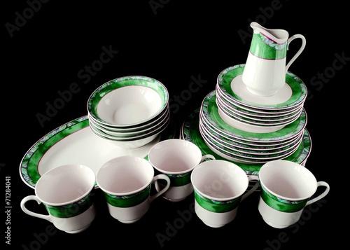 Valokuva  Geschirr / Kaffeegeschirr / Teller, Tassen, Kännchen, Schüsseln