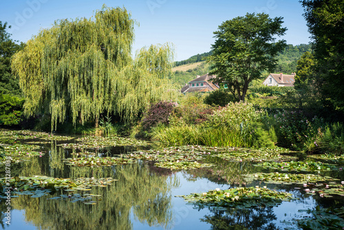 Foto  Claude Monet's water garden at Giverny in France