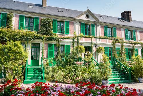 Foto  Das Clos Normand Haus von Claude Monet Garten Berühmte Französisch impr