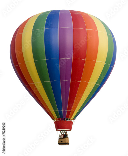 Tuinposter Ballon Hot Air Balloon Against White