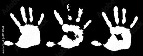 Valokuva  Detail imprint of hand, vector illustration on white background