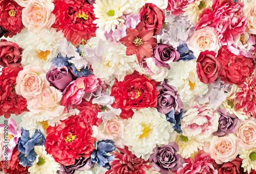 Obraz Dywan kolorowych kwiatów - fototapety do salonu