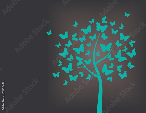 Tree made of butterflies - 71320440