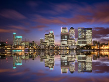 Colorful Sunset Over Canary Wharf