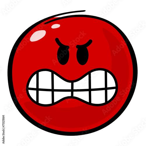 Smiley rot Aggressivität – kaufen Sie diese Vektorgrafik und