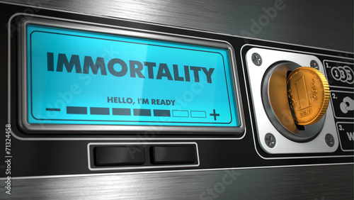 Photo Immortality in Display on Vending Machine.