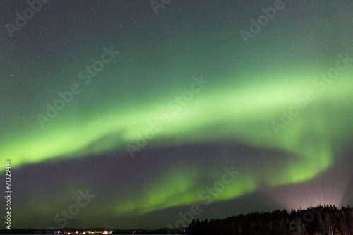 Foto auf Gartenposter Nordlicht Polarlicht bei Jokkmokk