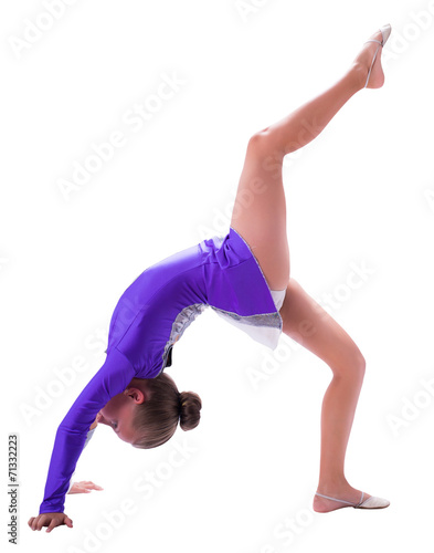 Spoed Foto op Canvas Gymnastiek girl gymnast