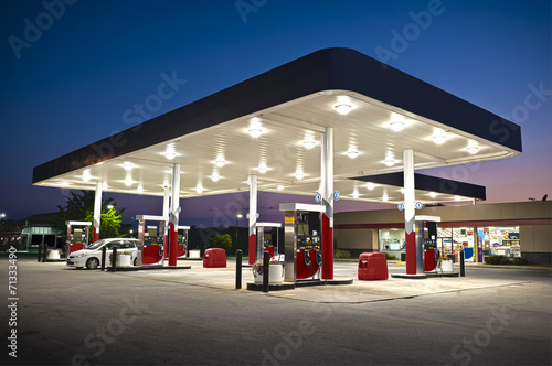 Fotografie, Obraz  Attractive Gas Station Convenience Store
