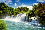 Fototapeta Landscape - Waterfalls Krka