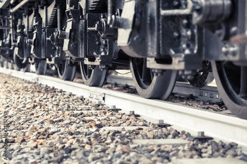 Poster Voies ferrées Wheels of a Train