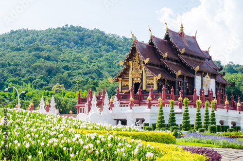 Edifice religieux Ho kham luang in the international horticultural, the northern t