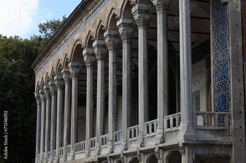 Columns of arabic palace Poster